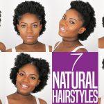 7 Natural Hairstyles For Short to Medium Length 4B/C Natural Hair