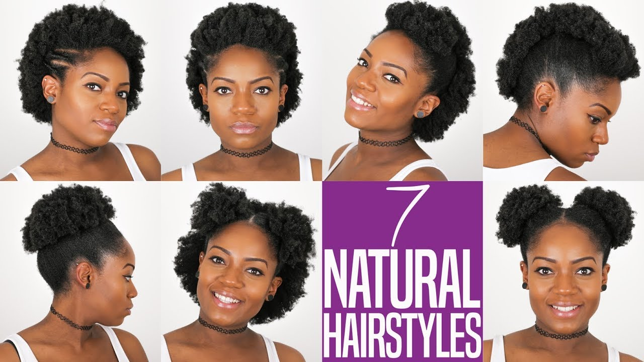 7 Natural Hairstyles For Short To Medium Length 4B/C