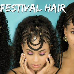 Festival-Inspired Hair Style Tutorial On A Full Lace Wig [Video]