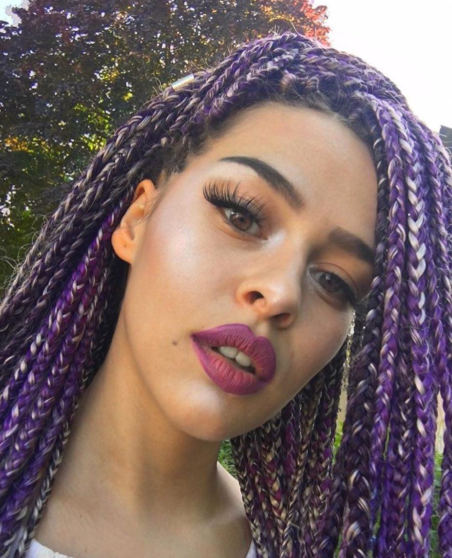 Purple And Blonde Braids Sevk1ye Black Hair Information