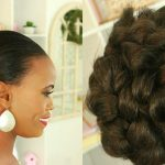Easy Natural Hair Protective Style Braided Hair Bun