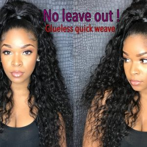 How to do Half up/down Glue-less Quick-weave with No leave out! [Video]