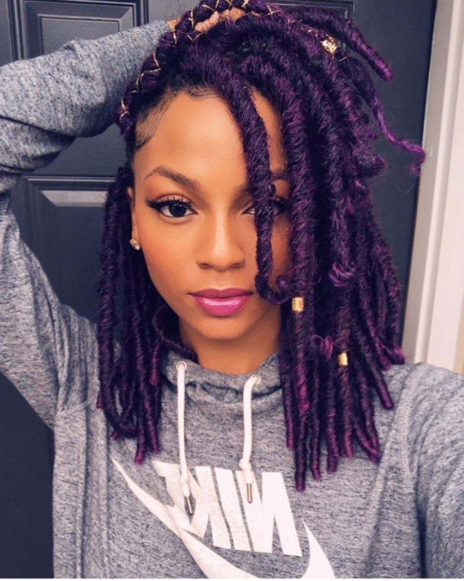 Lovely Violet Faux Locs Designsbyjazmyne Black Hair