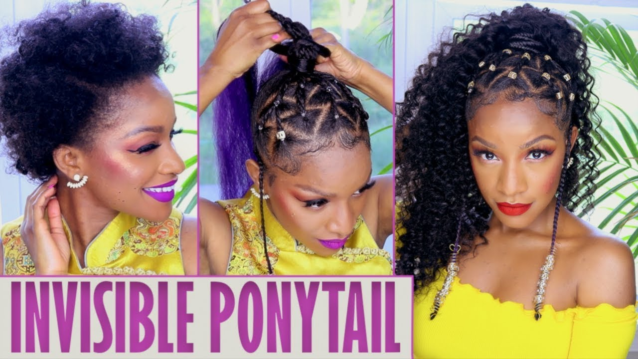 Island Vibes Ponytail With Braids Amp Beads Video Black
