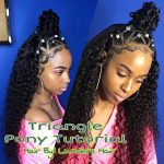 Small Triangle Ponytail Quick Weave [Video]