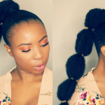 How To – Bubble Ponytail On Short Natural Hair