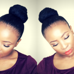 My Go To Sleek Bun Hairstyle On Short Natural Hair TWA