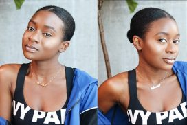 Sleek Low Bun on Short and Thick 4B/4C Natural Hair