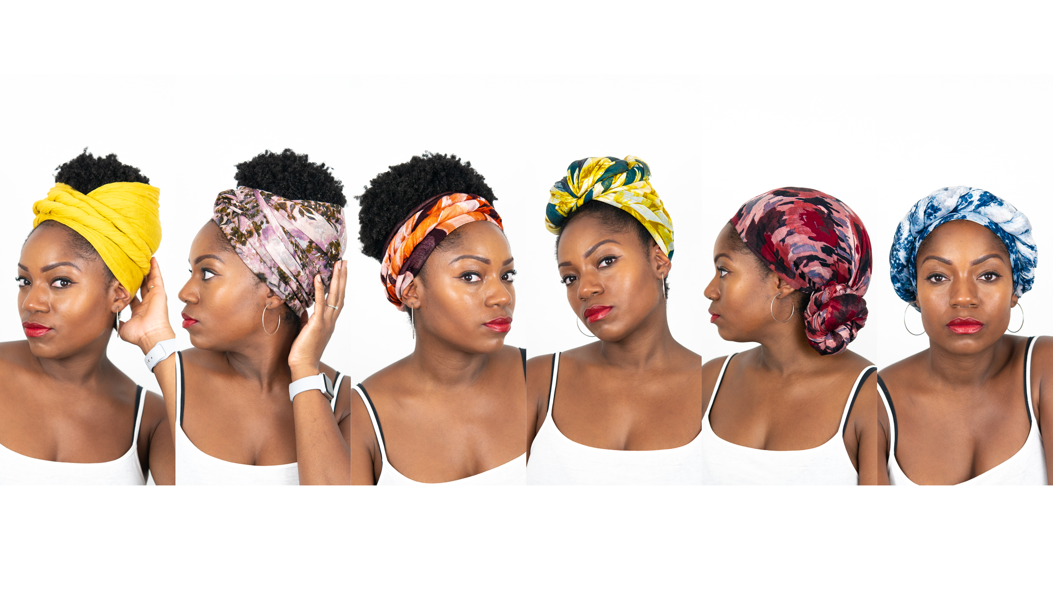 6 Quick Easy Ways To Tie A Head Scarf Or Head Wrap Natural Hair Video Black Hair Information
