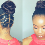 Rubber Band Updo Hairstyle on Short Natural Hair Twa [Video]