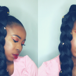 How to – Jumbo Braid Ponytail Hairstyle on Short Natural Hair [Video]