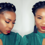 How To: Halo Braid Tutorial On Short Natural Hair – Easy Protective Style [Video]
