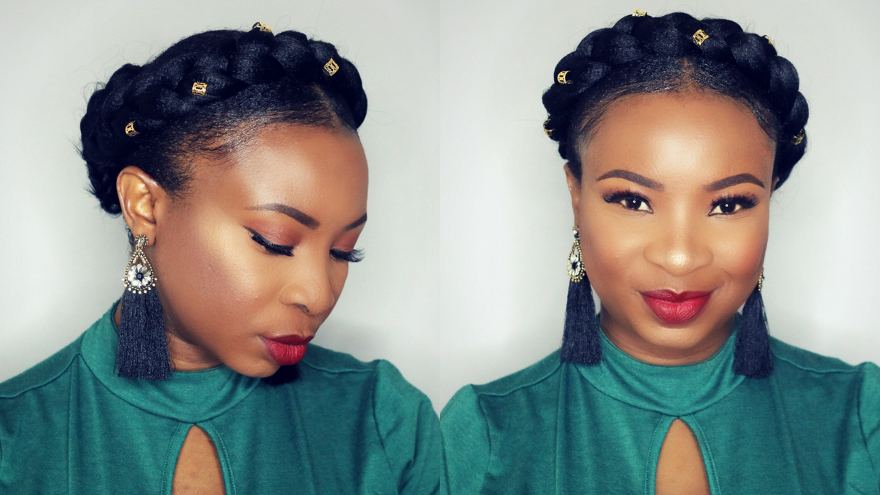 How To Halo Braid Tutorial On Short Natural Hair Easy