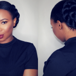 How To – Twisted Sleek Low Bun On Short Natural Hair