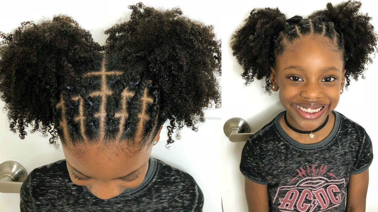 Kids Natural Hairstyles Rubber Band Protective Style On Natural Hair Video Black Hair Information