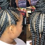 Half Up Half Down Feed In Braids [Video]