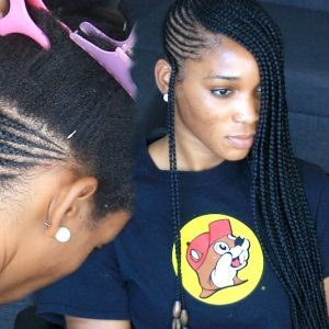 How To – Lemonade Braids On Extremely Thick 4c Hair – Almost Broke My Fingers Braiding [Video]