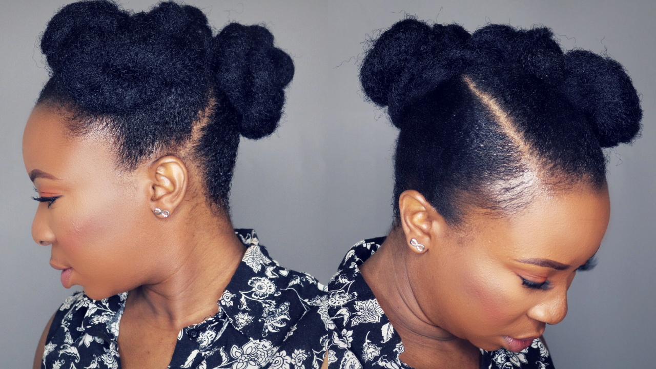 How To Easy Natural Hair Updo Hairstyle Using Marley Hair