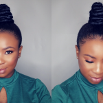 How To – Easy Top Knot Bun – Ninja Bun On Short Natural Hair
