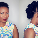 How To – Faux Hawk Updo On Short Natural Hair [Video]
