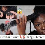 Tangle Teezer VS Denman Brush **SHOOK** Hair Loss Comparison – 4C Natural Hair [Video]