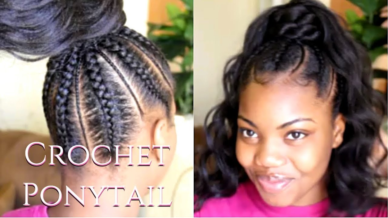 Crochet Ponytail Back To School Protective Styles Video Black