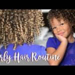 Curly Hair Routine – Kid Friendly! [Video]