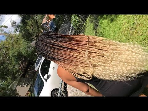 Honey Blonde Goddess Box Braids Video Black Hair