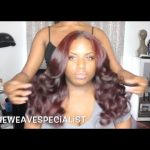 Natural Middle Part Sew-In With Leave Out From Start To Finish [Video]