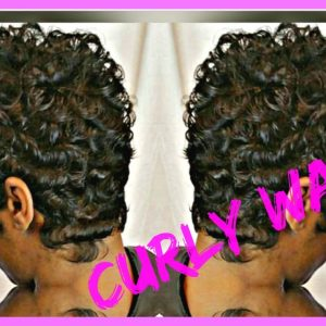 Curly Waves On Short Haircut [Video]