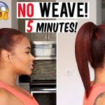 How to Get Long Hair in 5 min Without weave! hair hacks [Video]