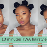 10 Minute Hair Style For Short Hair – TWA [Video]