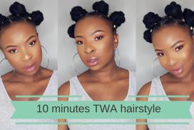 10 minute TWA hairstyle