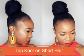 Top Knot on Short Hair
