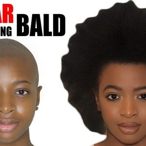 1 Year Hair Growth Journey After Big Chopping and Shaving my Head BALD – Time Lapse + Footage