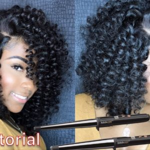 How To Wand Curl Brazilian Curly Hair [Video]