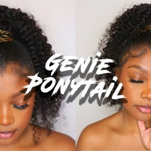 5 Minute Genie Ponytail W/ Ladder Method [Video]