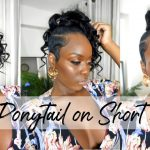 Curly Ponytail On A Pixie! Short Hair Transformation! [Video]