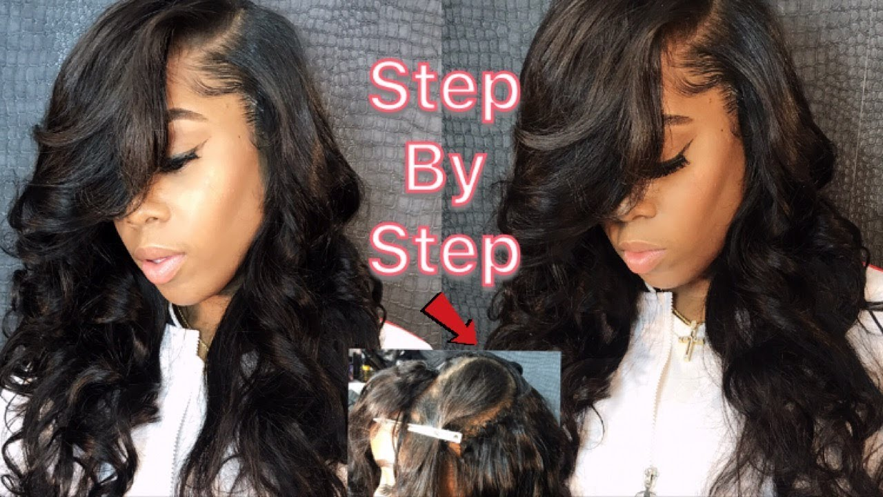 How To Do A Deep Side Part Quick,Weave [Video] , Black Hair