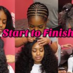No Leave Out – Lace Closure Sew In – No Glue – Start To Finish [Video]