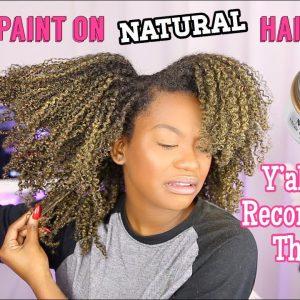 I Tried Hair Paint Wax…Temporary Hair Dye On Dark/Black Hair? [Video]