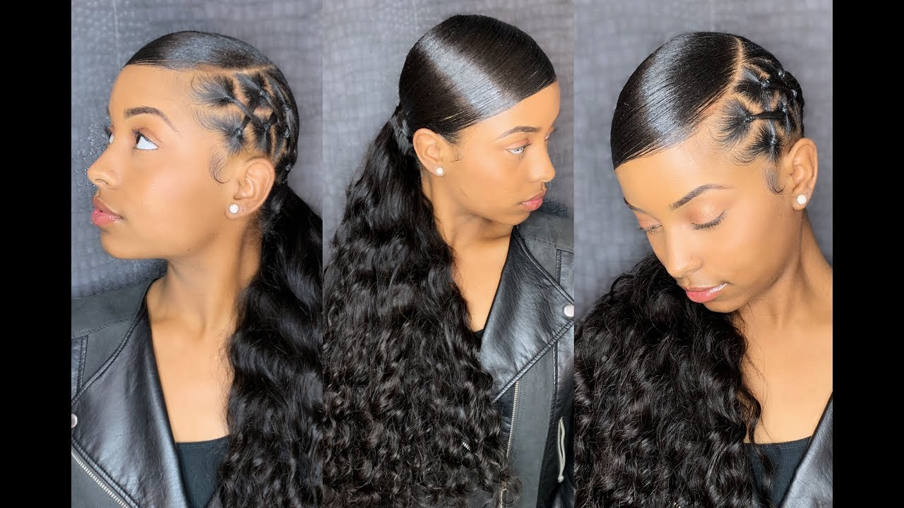 90's Sleek Ponytail Reloaded Chrisscross Methy! [Video