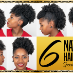 6 Natural Hairstyles - For Medium Length Hair - Special Occasions - 4B/4C Natural Hair