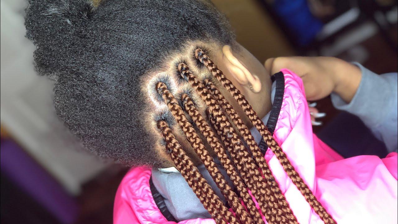 Tuck Natural Hair Into Box Braids