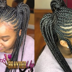 Thickest Hair Ive Ever Done – 2 Feed In Ponytails With Beads [Video]