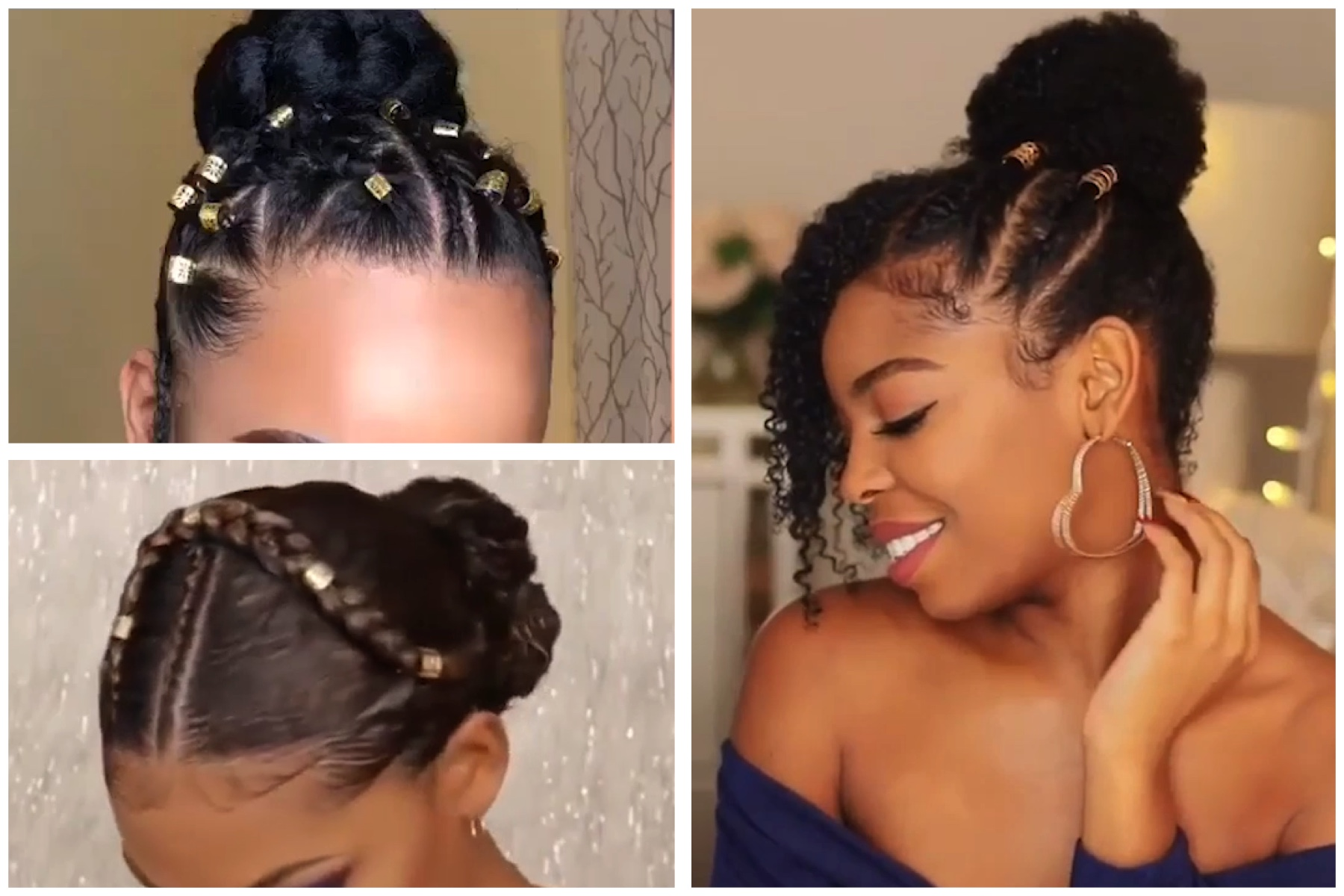 not your ordinary bun - beautiful bun hairstyles for black