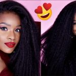 No Glue No Baby Hair! How To Flawless Kinky Straight Lace Frontal [Video]