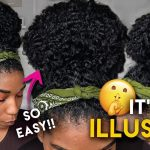 My Giant Top Knot Bun Secret!! Shh! Issa Natural Hair Illusion [Video]