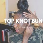 Top Knot Bun On Straight Natural Hair! [Video]