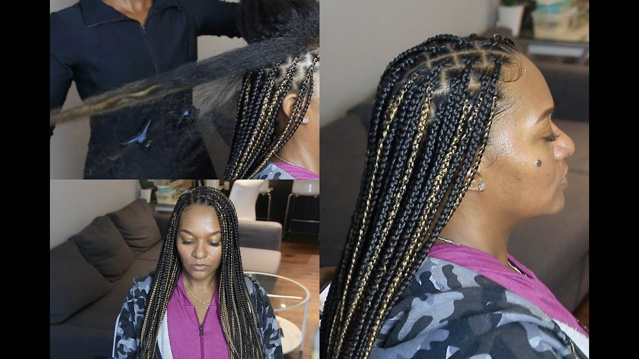 Knotless Box Braids On Extremely Long Hair Regular Speed